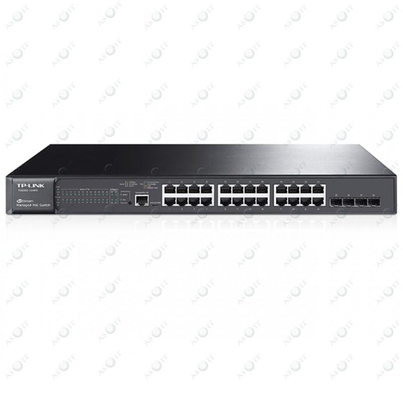 БУ Комутатор TP-LINK T2600G-28TS 24xGigabit Ethernet (10/100/1000 Мбит/с), 4xSFP (TL-SG3424)