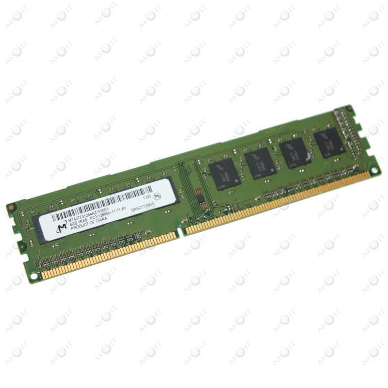БУ Оперативная память 4 ГБ, DDR3, Micron  (для настольных ПК, 1600 МГц, 1.5 В, CL11, MT8JTF51264AZ-1