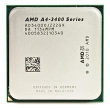 БУ Процессор AMD A4-3400 (FM1/2x2.7GHz/32нм/65 Вт/AD34000JZ22GX)