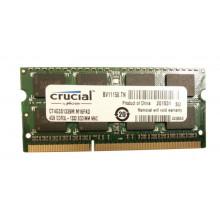 Оперативная память Crucial (SO-DIMM, DDR3L, 4Gb, 1333MHz, CT4G3S1339M.M16FKD) Б/У