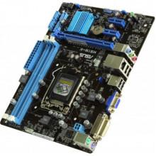 Материнская плата Asus H61M-K (s1155, Intel H61, 4xSATA, 2xDDR3, VGA, DVI, mATX)  Б/У