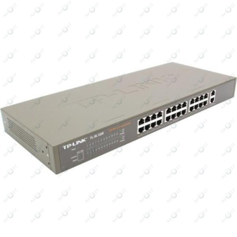 БУ Коммутатор неуправляемый TP-Link TL-SL1226, 24x10/100, 2x10/100/1000 metal case, rack