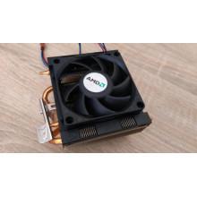 БУ Процессорный кулер AMD (AMD AM/FM, 4 трубки, 3pin, 80мм, 2300 об/мин)